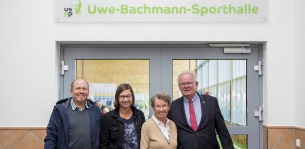 Sporthalle im USFP trägt Uwe Bachmanns Namen
